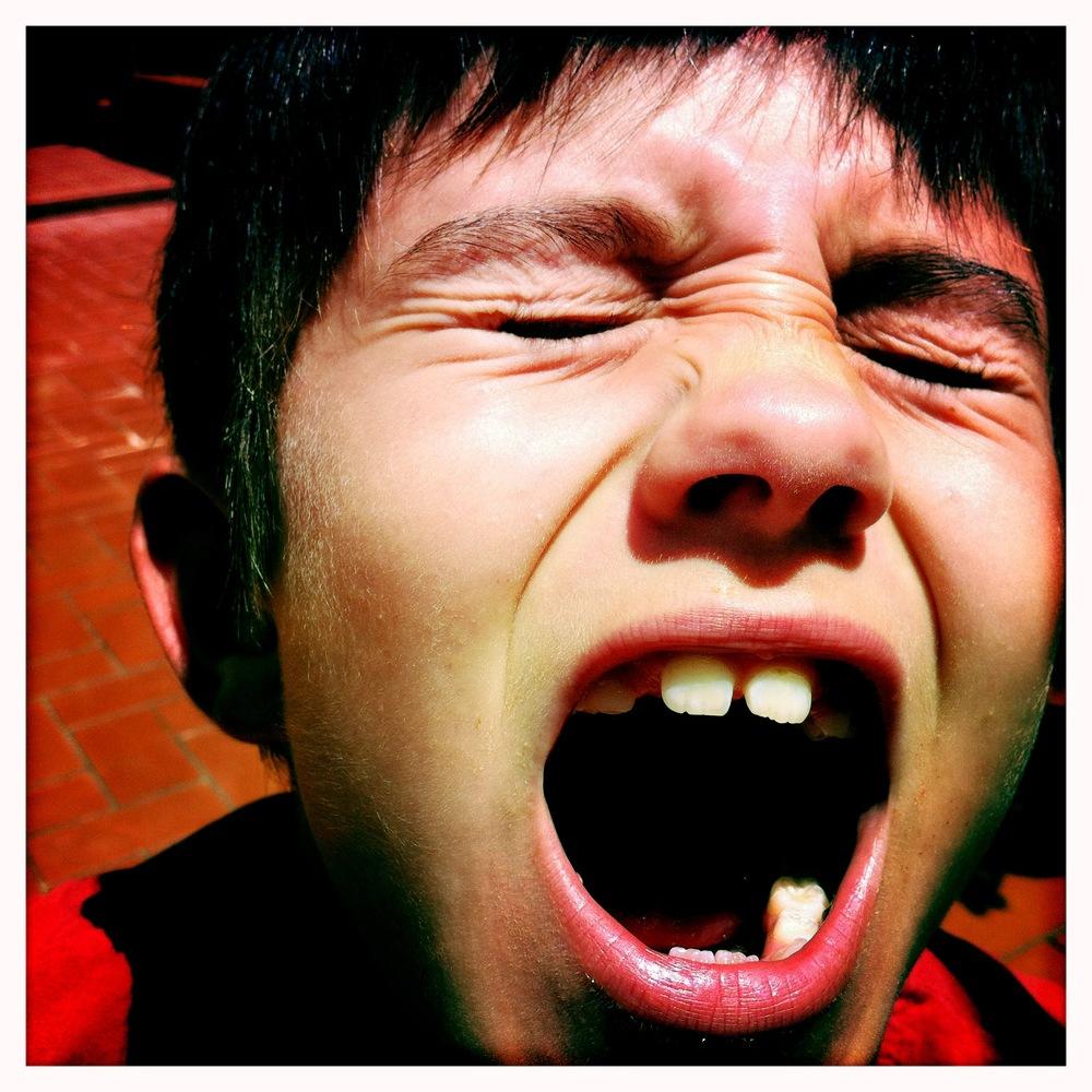 El Martí ensenyant la seva boca!
