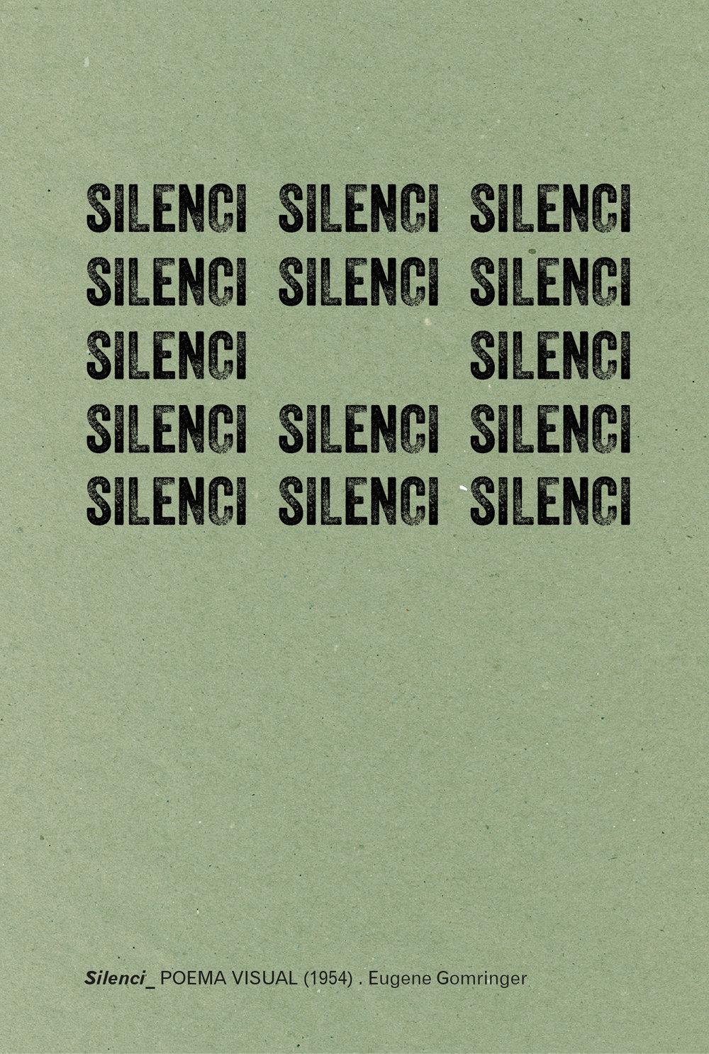 SILENCI_POEMA VISUAL (1954) . Eugene Gomringer
