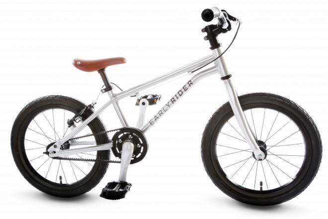 'Early Rider'Kinderrad von Belter 16 Zoll, Aluminium in Silber superleicht mit Riemenantrieb