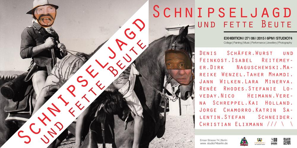 Schnipseljagd und Fette Beute - 48 Stunden Neukölln im Studio 74, Emser Straße 74, 12051 Berlin, 27. Juni 2015 ab 18h.