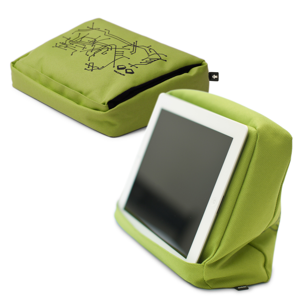 IPad pillow with anti-slip silicon print