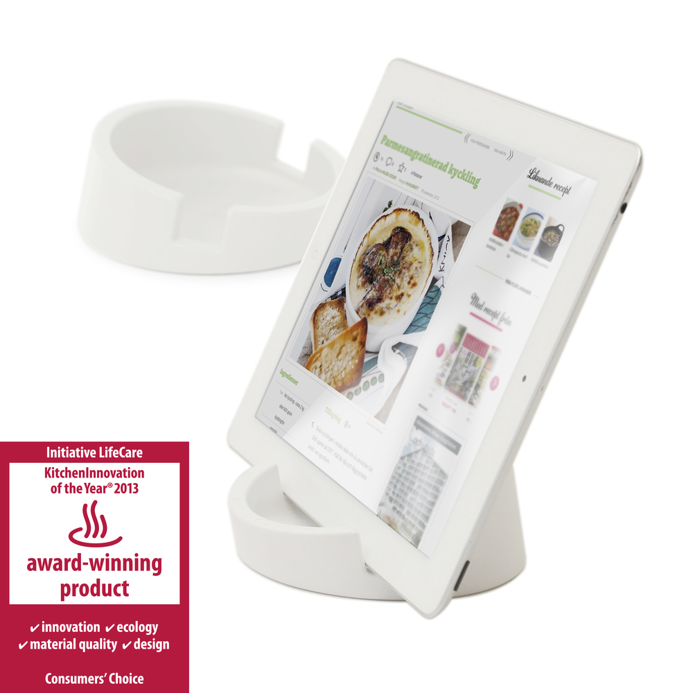 The iPad stand was awarded 'KitchenInnovation of the Year 2013' at the world's leading consumer-goods fair.