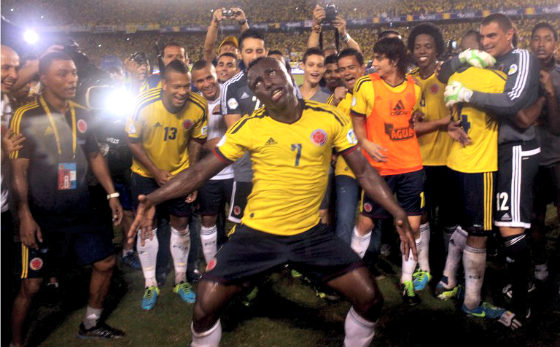 Colombian Defender Pablo Armero gets weird.