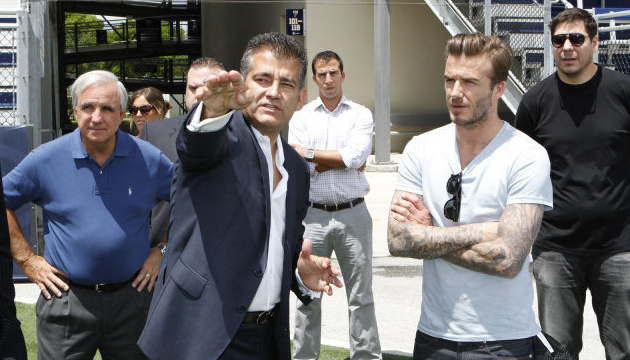 Beckham & Co. scouting stadium locations in Miami in November.