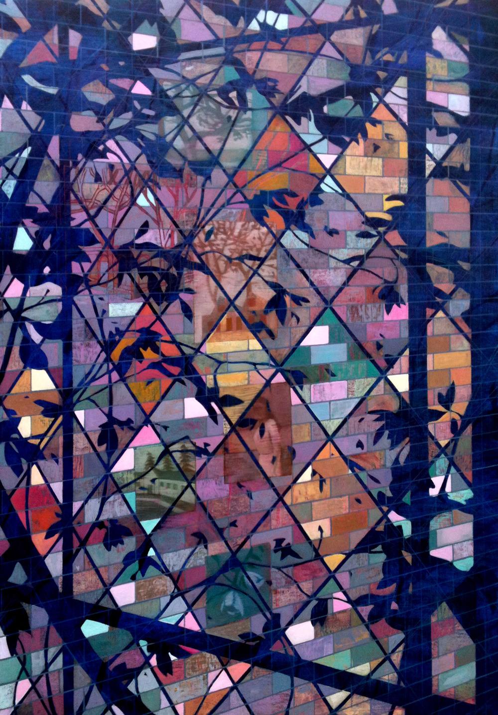 Church Window   29 x 21  Oil On Canvas  2013