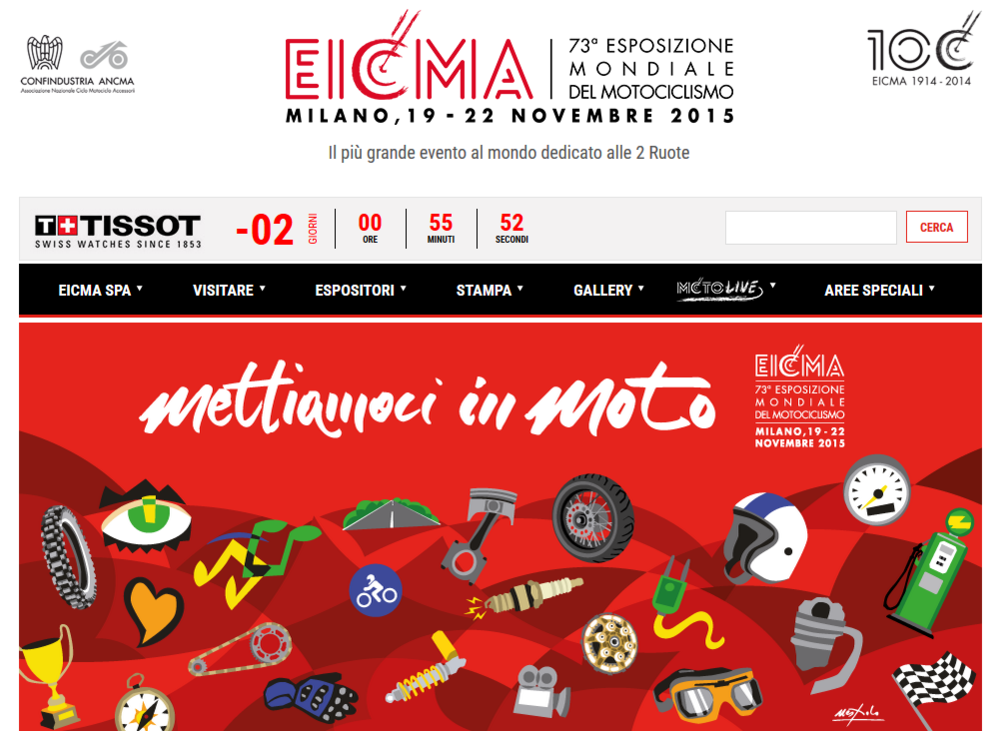 EICMA, 73a esposizione mondiale del motociclismo. Il più grande evento al mondo dedicato alle 2 Ruote.