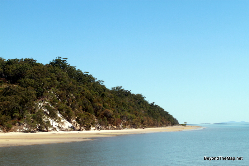 The first close-up view of Fraser Island as the barge arrived at Kingfisher Bay