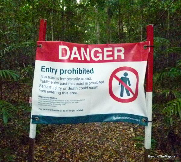 What's this sign on the trail? Must be a mistake....