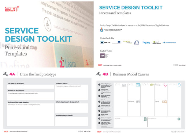 Samples from JAMK's Service Design Toolkit
