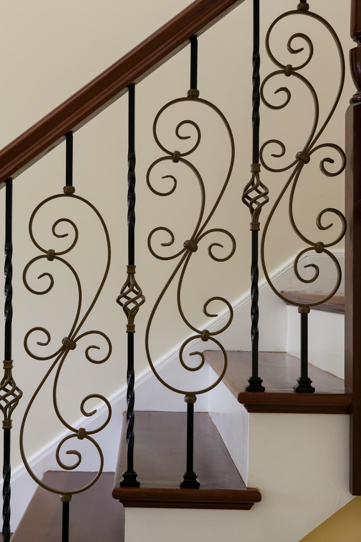 Custom Ironwork on Balustrade