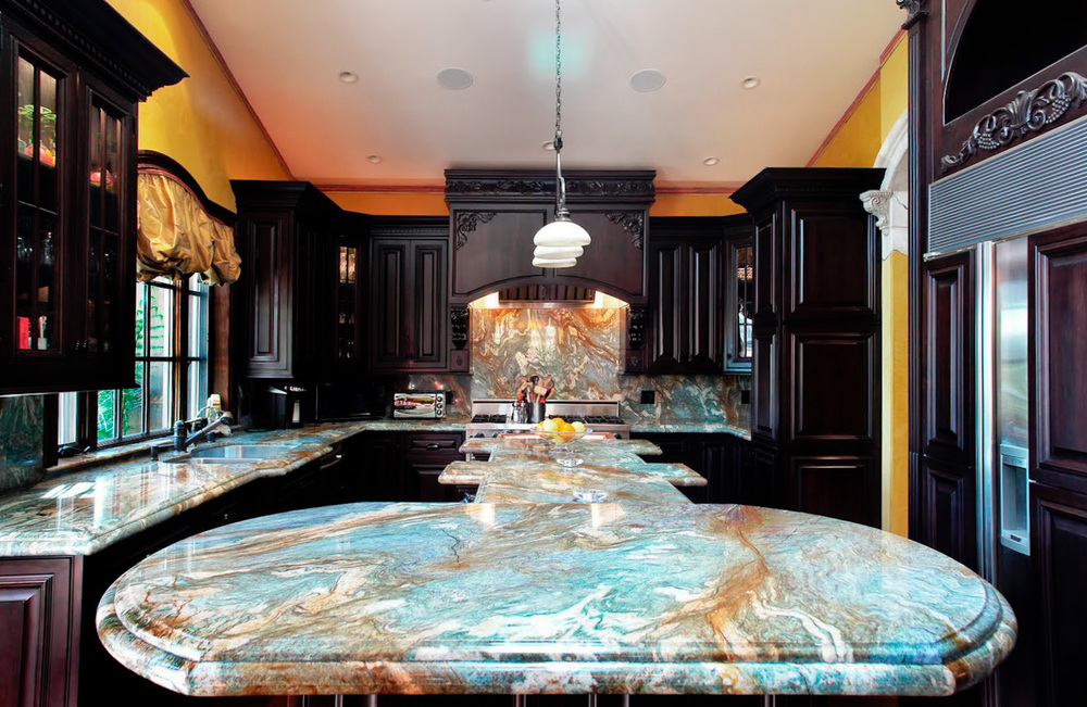 Classic kitchen with marble counters