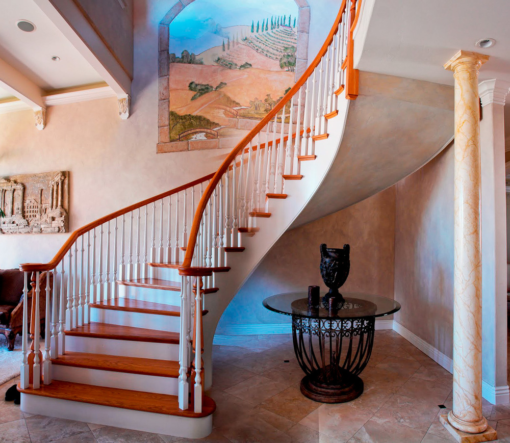 Classic Curved Grand Staircase