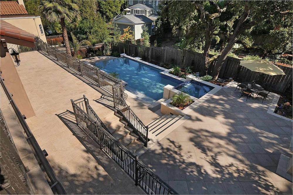 Terraced Patio and Pool