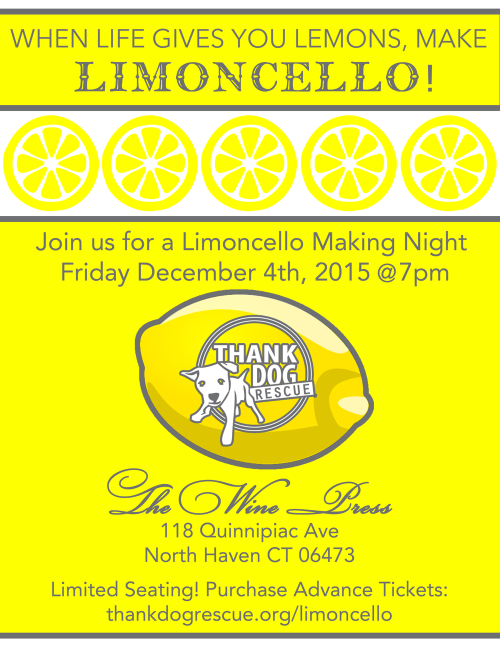 Reserve your ticket today to our Limoncello event!