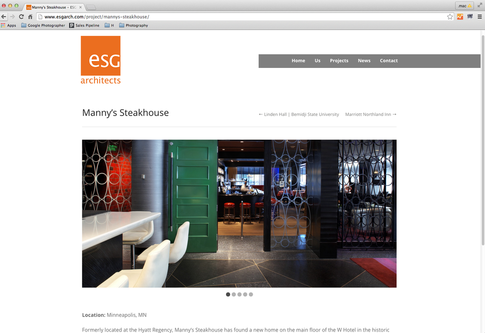 ESG Architects - Manny's Restaurant