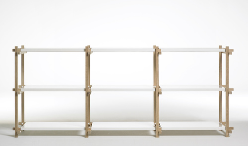 Wood low shelving system