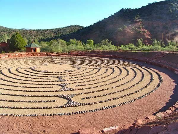 The main labyrinth at Angel Valley retreat center in Sedona, Arizona.