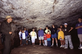 Just found this photo of a Wind Cave tour. Yeah, I made a good call there, I think. (shiver)