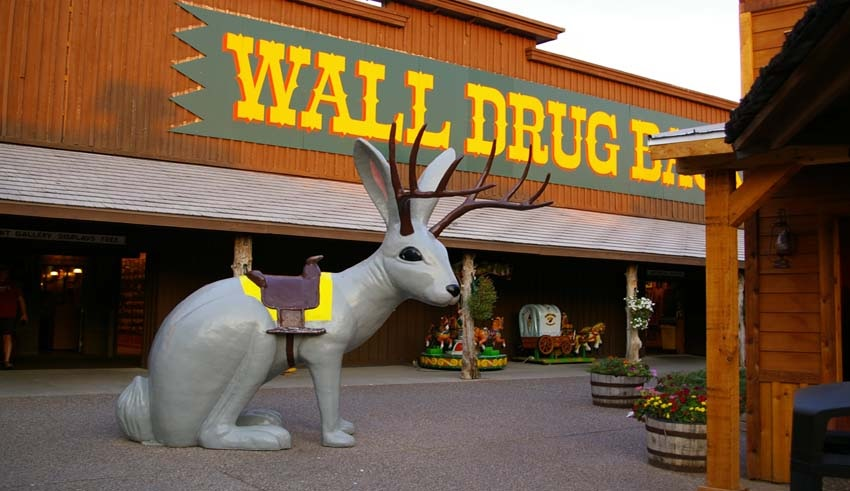 This'll give you a rough idea of the Wall Drug experience. The fabled and much-sought  jackalope .
