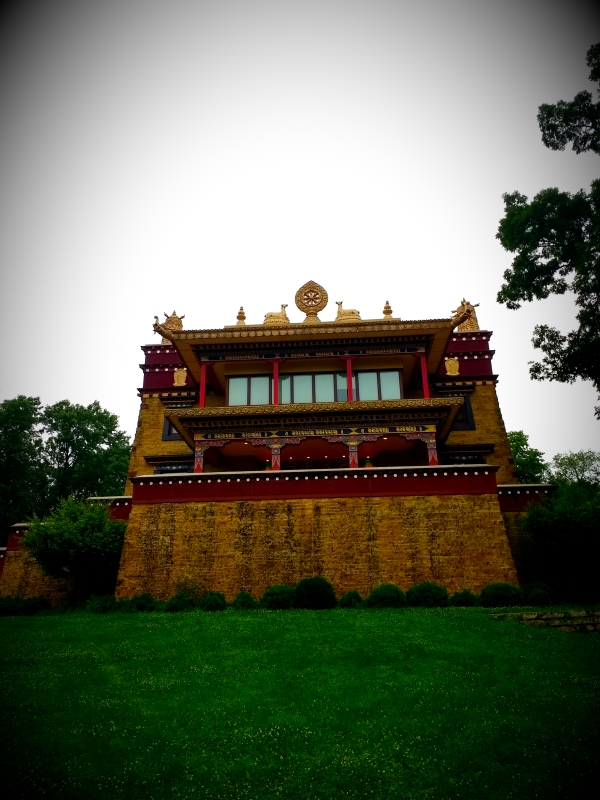 My first Tibetan temple, right next door! Weird.