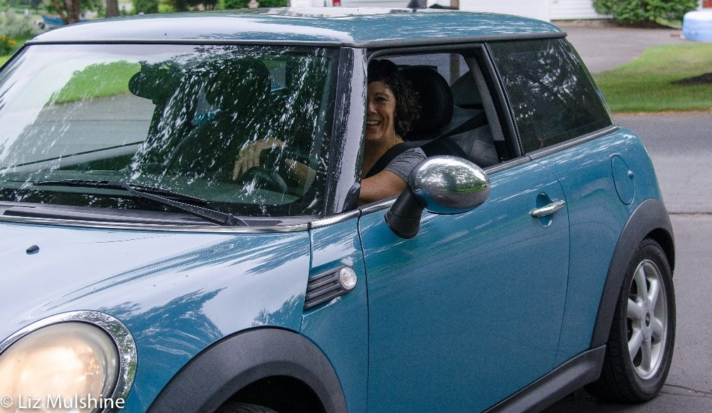 "People ask me what color the Mini is. The technical term is ""Oxygen Blue."""