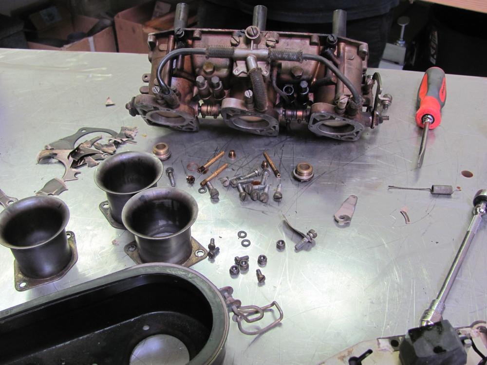 Carb rebuild in process.