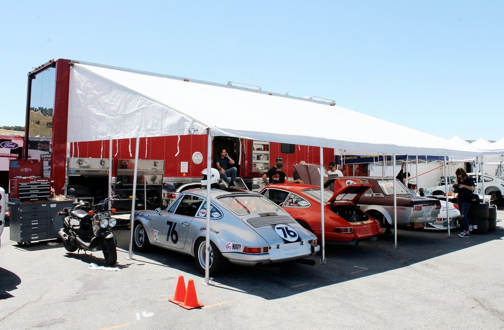 Pacific Throttle House ran four historic cars at the inaugural Spring Classic at Laguna Seca.