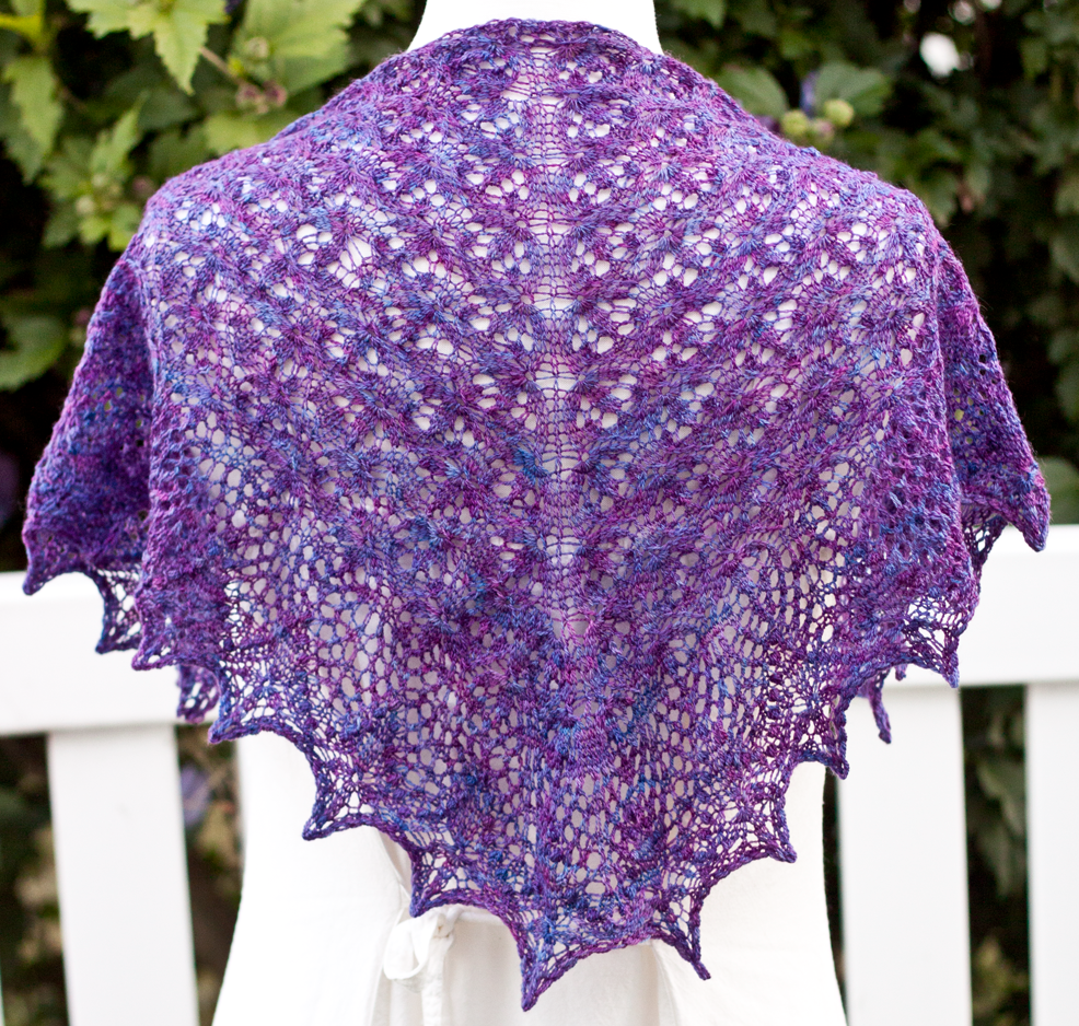 Echo Flower Shawl - Basenji, Running Dog Nebula