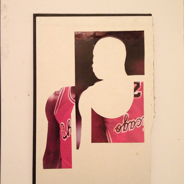 New collage on hardcover #collage, #art, #collageart, #jordan, #baller, #23