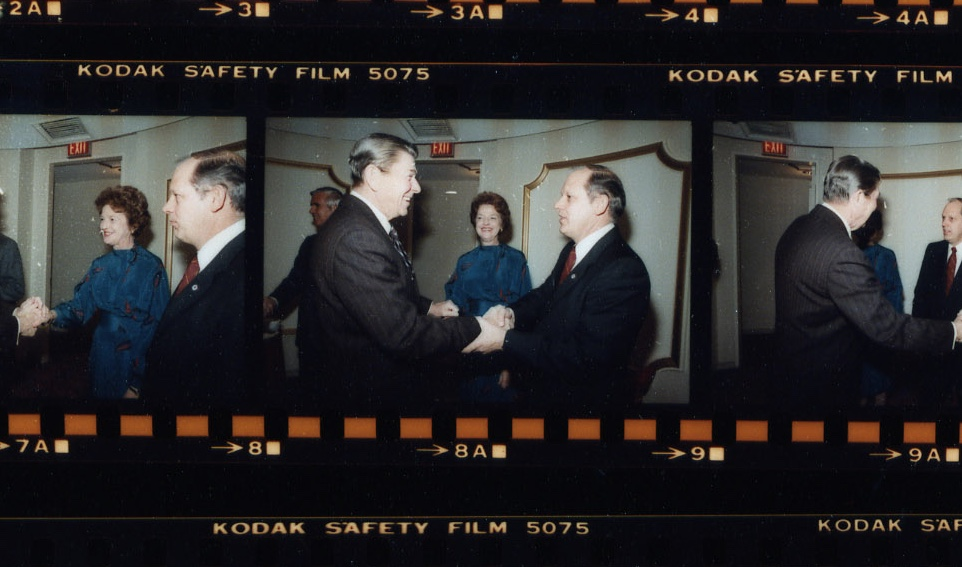 Richard Richards and his wife meet with President Ronald Reagan on January 27, 1983