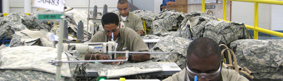 Prison inmates produce close for the military under the Bureau of Prisons Unicor program