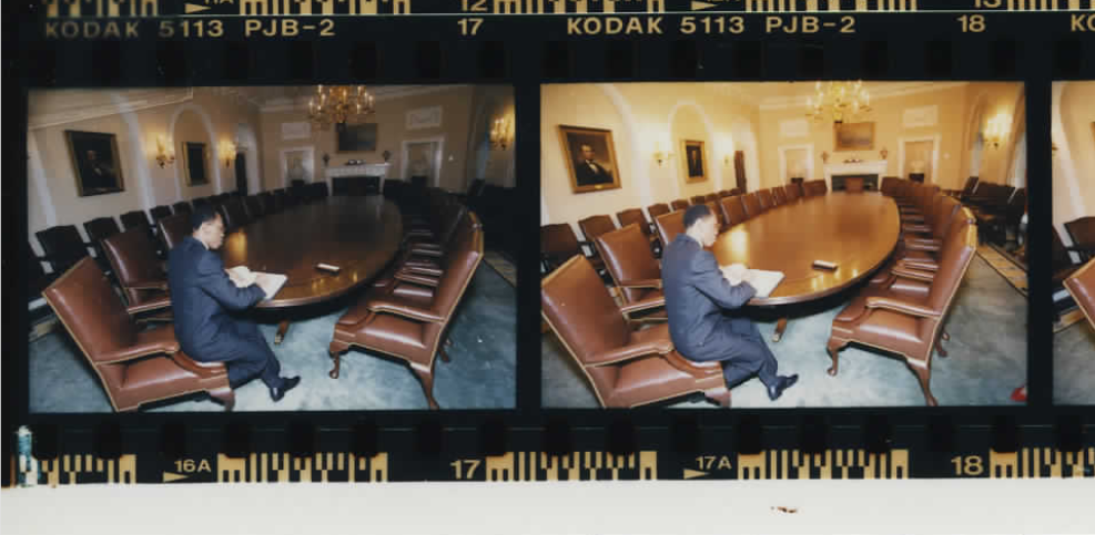 Jean-Bertrand Aristide in Washington DC on October 14, 1994 (Photo sheet: P020756)