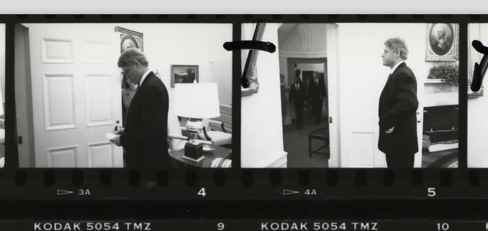 Candid photos of President Bill Clinton on October 14, 1994 (Photo sheet: P020762)
