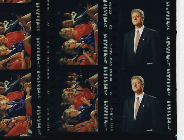 President Clinton at the Miami Convention Center at the Summit of the Americas on December 11, 1994 (Photo sheet: P022870)