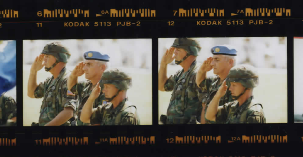 Members of the US military at Haiti's National Palace on March 31, 1995 (Photo sheet: P026050)
