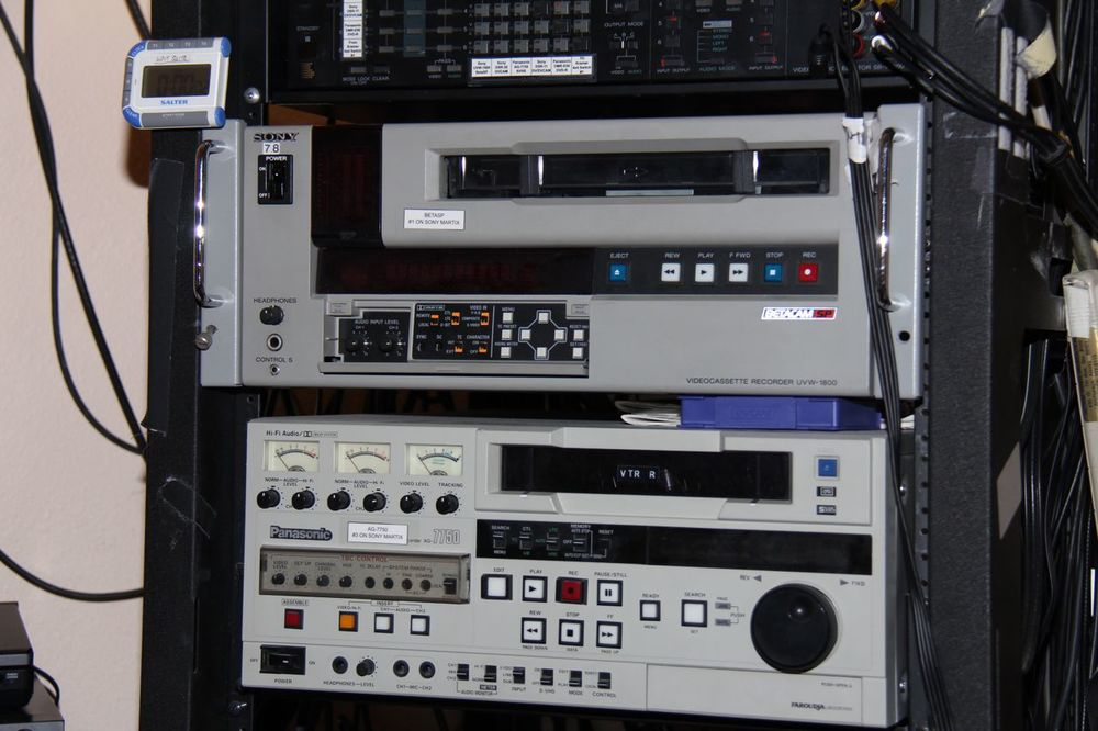 Legacy format Video equipment used to convert tapes to Digital