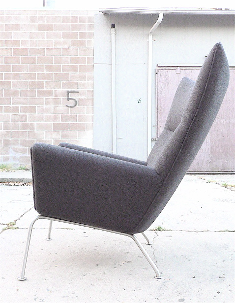 Delightful Hans Wegner Wing Chair W/Ox Chair Ottoman