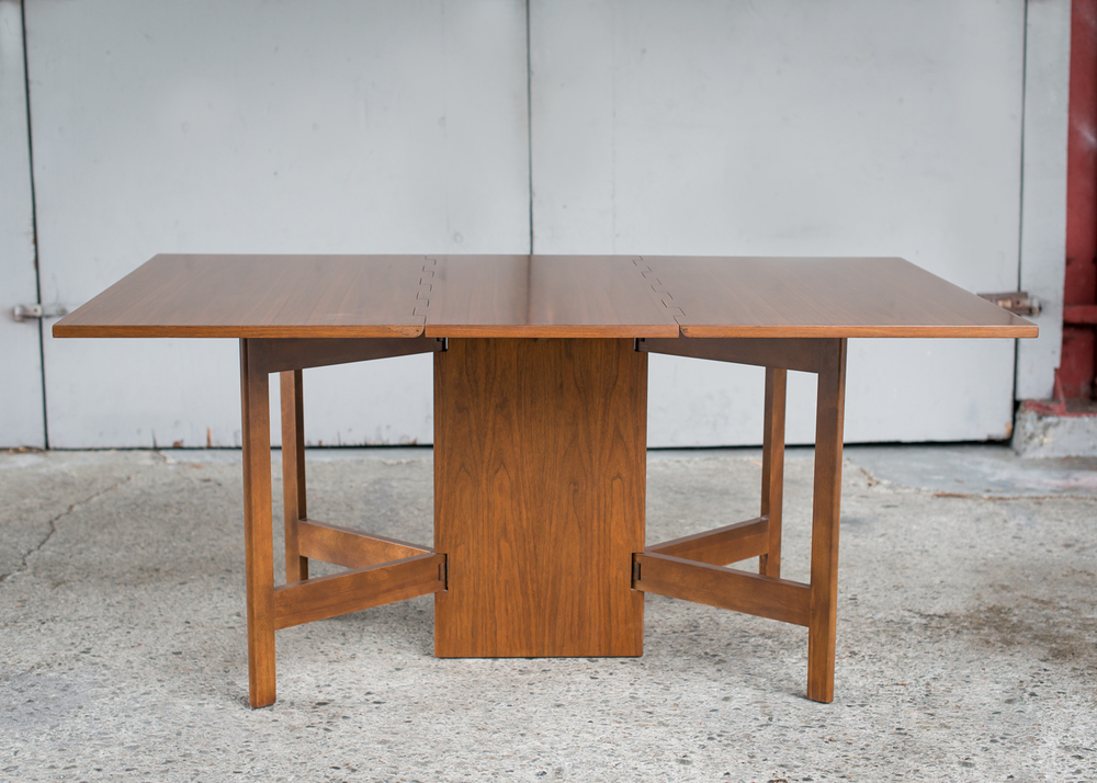 Vintage George Nelson Walnut Gateleg Dining Table for Herman