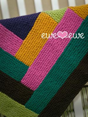 Cuddle Up Log Cabin Blanket knitting pattern — Ewe Ewe Yarns