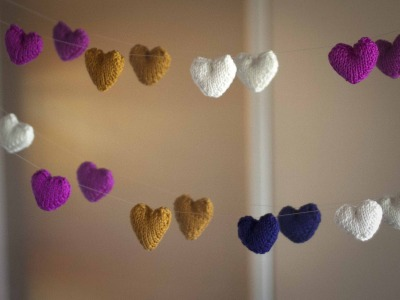 Diy Knitted Heart Heart Garland Ewe Ewe Yarns