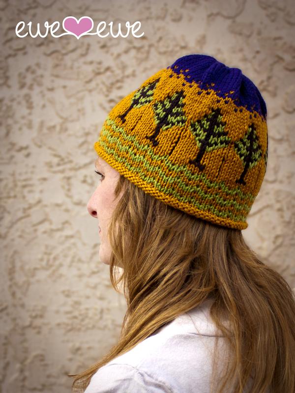 Timber! Hat Fair Isle Knitting Pattern   Ewe Ewe Yarns