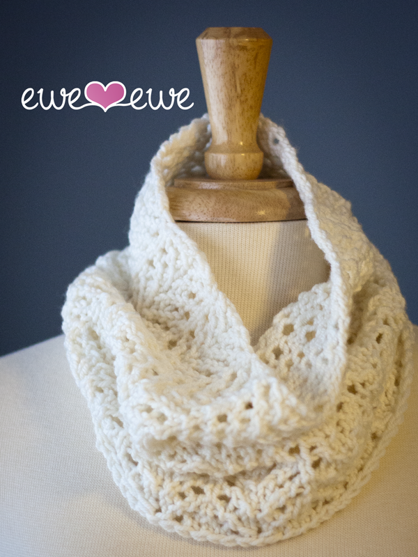 Angel Food Cake Cowl Knitting Pattern Ewe Ewe Yarns