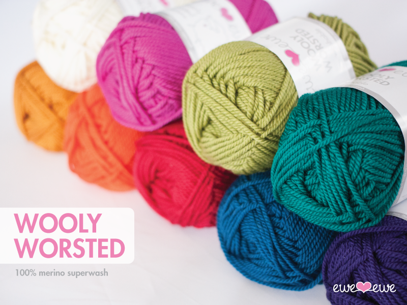 Knitting Patterns For Worsted Wool : Wooly Worsted Merino Yarn   Ewe Ewe Yarns
