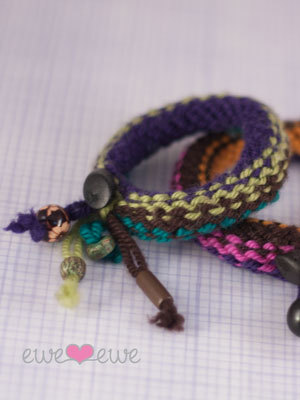 FREE Pattern: Knitship Bracelets, a great stash buster!