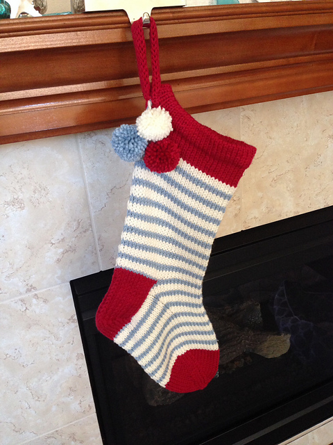 Totally cute and hung by the fire knitted by  SoCalMeaghan