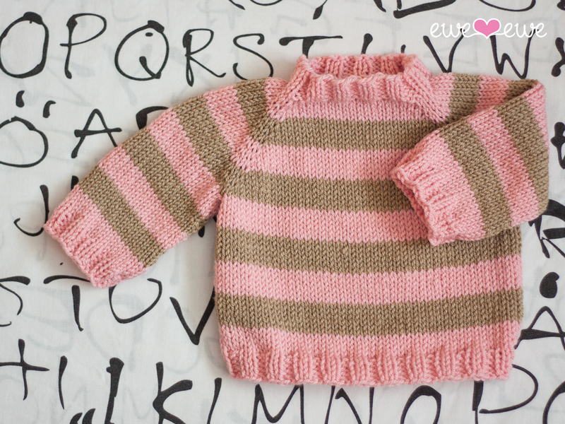 2. Easy As ABC Baby Sweater   knitting pattern