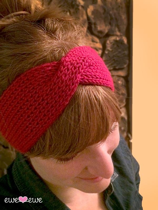 Hot Mess Headband {FREE knitting pattern} by Ewe Ewe Yarns