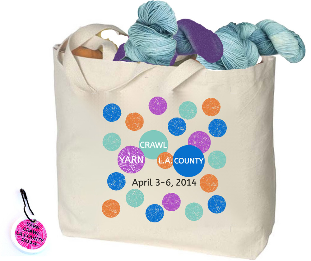 Yarn Crawl LA 2014 Tote Bag