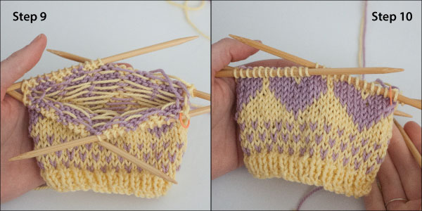 Tutorial: Knitting with two colors + a free pattern