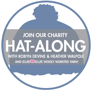 Logo for the Charity Hat-Along with Robyn Devine & Heather Walpole
